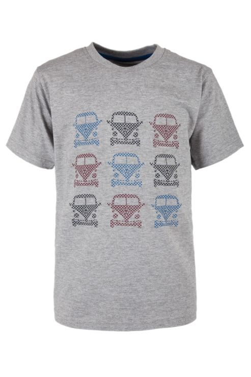 Check Camper Kids Tee Shirt 100% Cotton Round Neck T-Shirt
