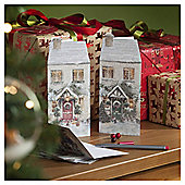 Door Scene Christmas Cards, 24 pack