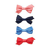 Mothercare B Young Girls Bow Clips - 4 Pack