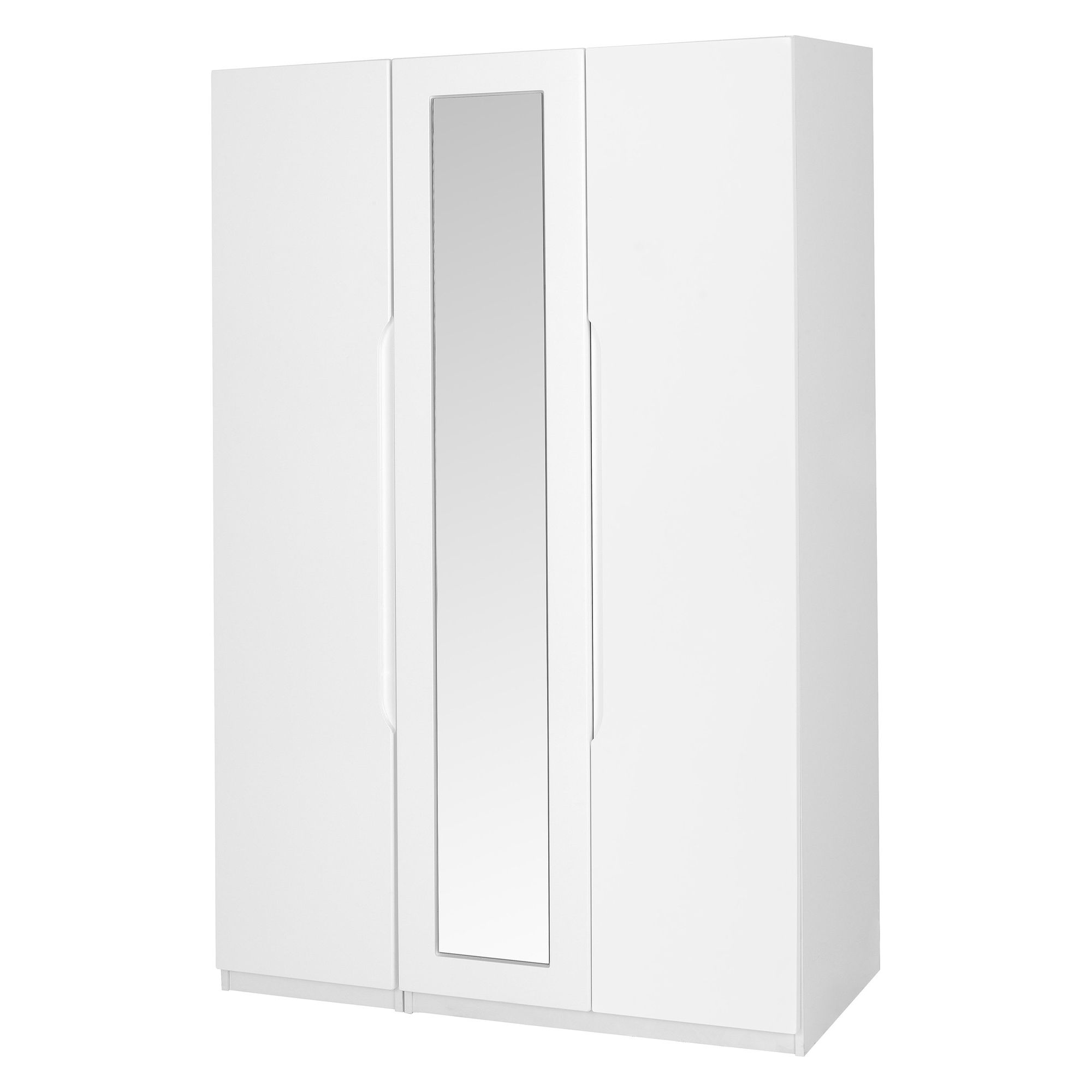 Alto Furniture Visualise Alpine Three Door Wardrobe in High Gloss White at Tesco Direct