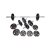 Body Power 32Kg Tri-Grip Vinyl Weight Set