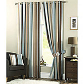Dreams n Drapes Whitworth Duck Egg Lined Eyelet Curtains - 90x90 inches (229x229cm)