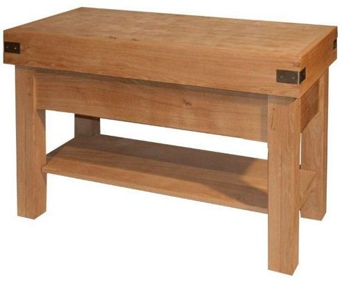 Chabret Traditional Kitchen Island Block - 85cm X 120cm X 60cm