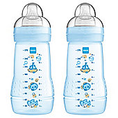 MAM Baby Bottle 270ml 2pk Blue
