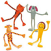 Party Bag Bendy Jungle Animals (Pack of 4)