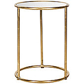 Safavieh Mineola Side Table - Gold / Mirror