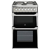 Indesit IT50E1(XX)S Stainless Steel Electric Cooker, Twin Cavity, Single Oven