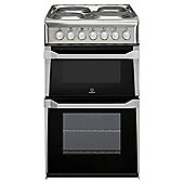 Indesit IT50E1XXS, Electric Cooker, 50cm, Stainless Steel, Twin cavity, Single Oven