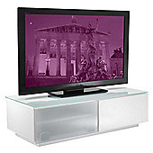Vienna High Gloss White TV Stand - Assembled