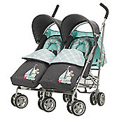 Obaby Apollo V2 Twin Stroller, Retro Mickey Denim