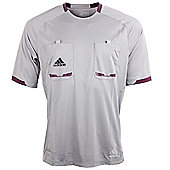 adidas Mens Grey Short Sleeved Formotion Referee Shirt Jersey - Grey