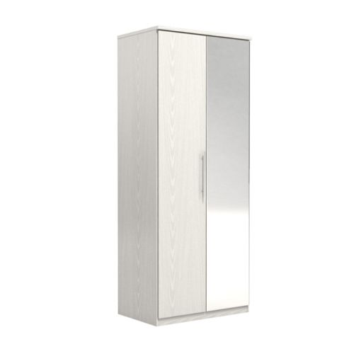 Urbane Designs Prague 2 Door Wardrobe - White