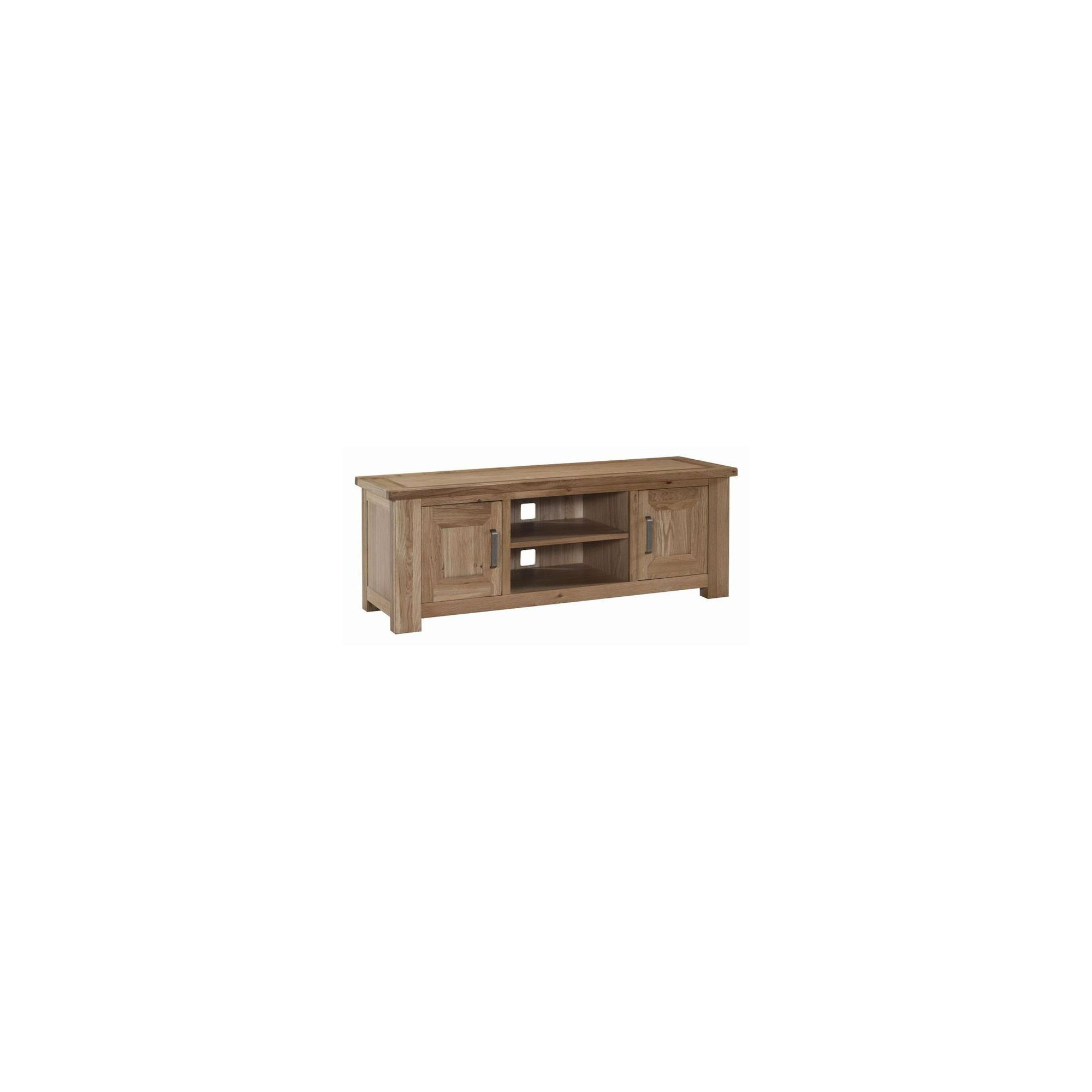 Kelburn Furniture Lyon 133cm TV Stand in Light Oak Matt Lacquer at Tesco Direct