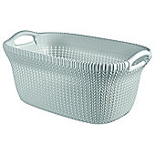 Curver Knit Laundry Basket, Blue