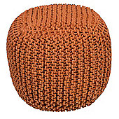Kaikoo Chunky Knit Bean Bag Cube, Orange