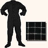 All in One Footed Pyjamas - White and Black (Small)