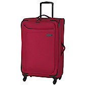 IT Luggage Megalite 4-Wheel Suitcase, Ribbon Red Medium