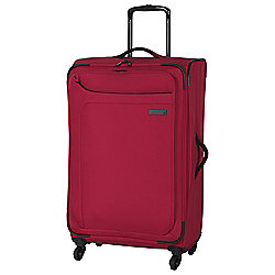 IT Luggage Megalite 4-Wheel Suitcase, Ribbon Red Medium