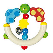 Heimess 762950 Wooden Elasticated Touch Ring Rattle (Car)