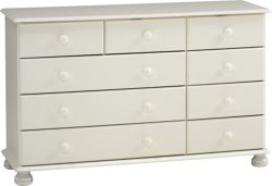Home Essence Balham Nine Drawer Chest - White