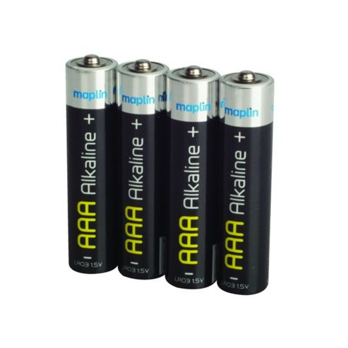 Maplin AAA Battery Alkaline Extra Long Life Lr03 - Pack of 4