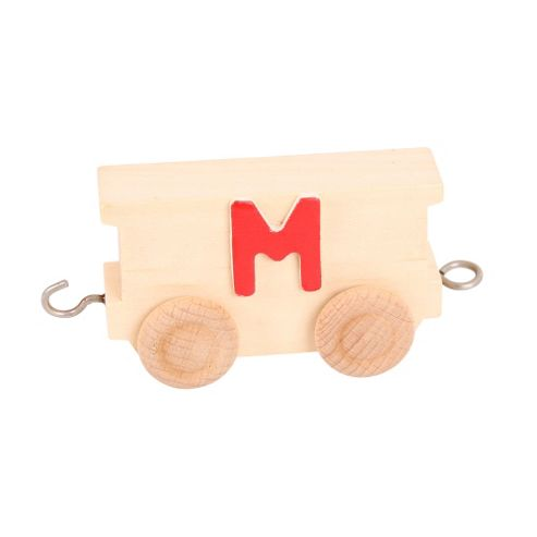 Bigjigs Toys BJ201M Name Train Letter M