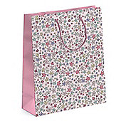 Ditsy Pink Flower Gift Bag