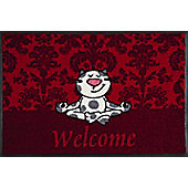 Wash & Dry by Kleen-Tex Yoga Cat Flat Bordered Rug - 50cmx75cm