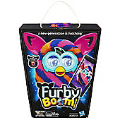 Furby Boom Sunny Diagonal Stripes - Orange Black Purple