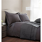 Casa Couture Berwick King Duvet Cover Pewter In Silver