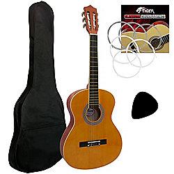 Tiger Natural 3/4 Classical Guitar Pack
