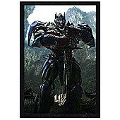 Black Wooden Framed Transformers 4 Age Of Extinction Optimus Prime Poster