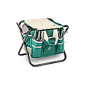 Andrew James Folding Gardeners Tool Stool with Tools