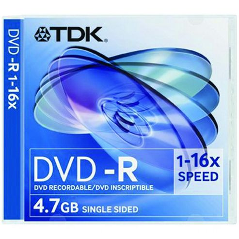 Maplin TDK DVD-R 4.7 GB 16x Blank Media Storage Disc 5 Pack