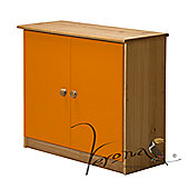 Verona Ribera Cupboard - Antique / Orange