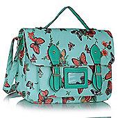 KCMODE Womens Blue butterfly Design Satchel