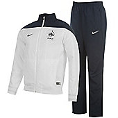 2014-15 France Nike Woven Tracksuit (White) - White