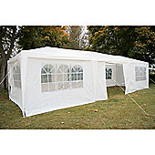 AirWave Party Tent Marquee Fully Waterproof With WindBars - 9x3m in White