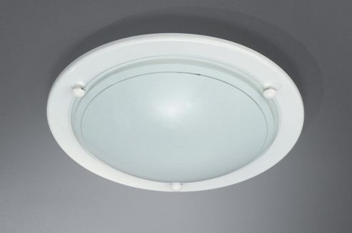 Massive Fergie 8cm One Light Flush Ceiling Light in White