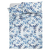 Tesco soft floral duvet set  KS blue