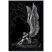 Spiral Black Wooden Framed Enslaved Angels Poster