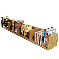 Virgil - Cd / Dvd / Blu-ray / Video Media Wall Storage Shelf - Oak