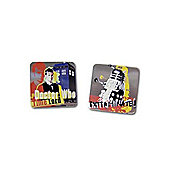 Dr Who Time Lord and Dalek Novelty Themed Cufflinks