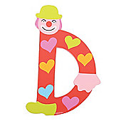 Tatiri Crazy Clown Letter D ((Red) Hearts)