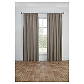 Blackout Pencil Pleat Curtains, Duck Egg (66 x 54'') - Mocha