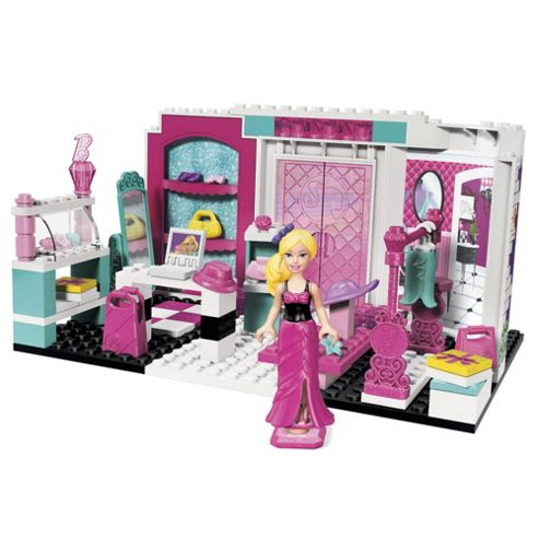 Mega Bloks Barbie Build N Style Fashion Boutique Playset