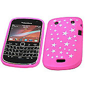 SoftSkin Skin Case - BlackBerry 9900 Bold Touch - Pink Star