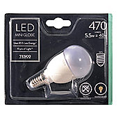 Tesco LED Star Classic Mini Globe 40W E14 Small Edison Screw Light Bulb