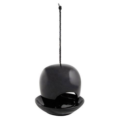 Fallen Fruits Ceramic Birdfeeder, Black