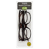 Tesco Reading Glasses Twin Pack 2.5